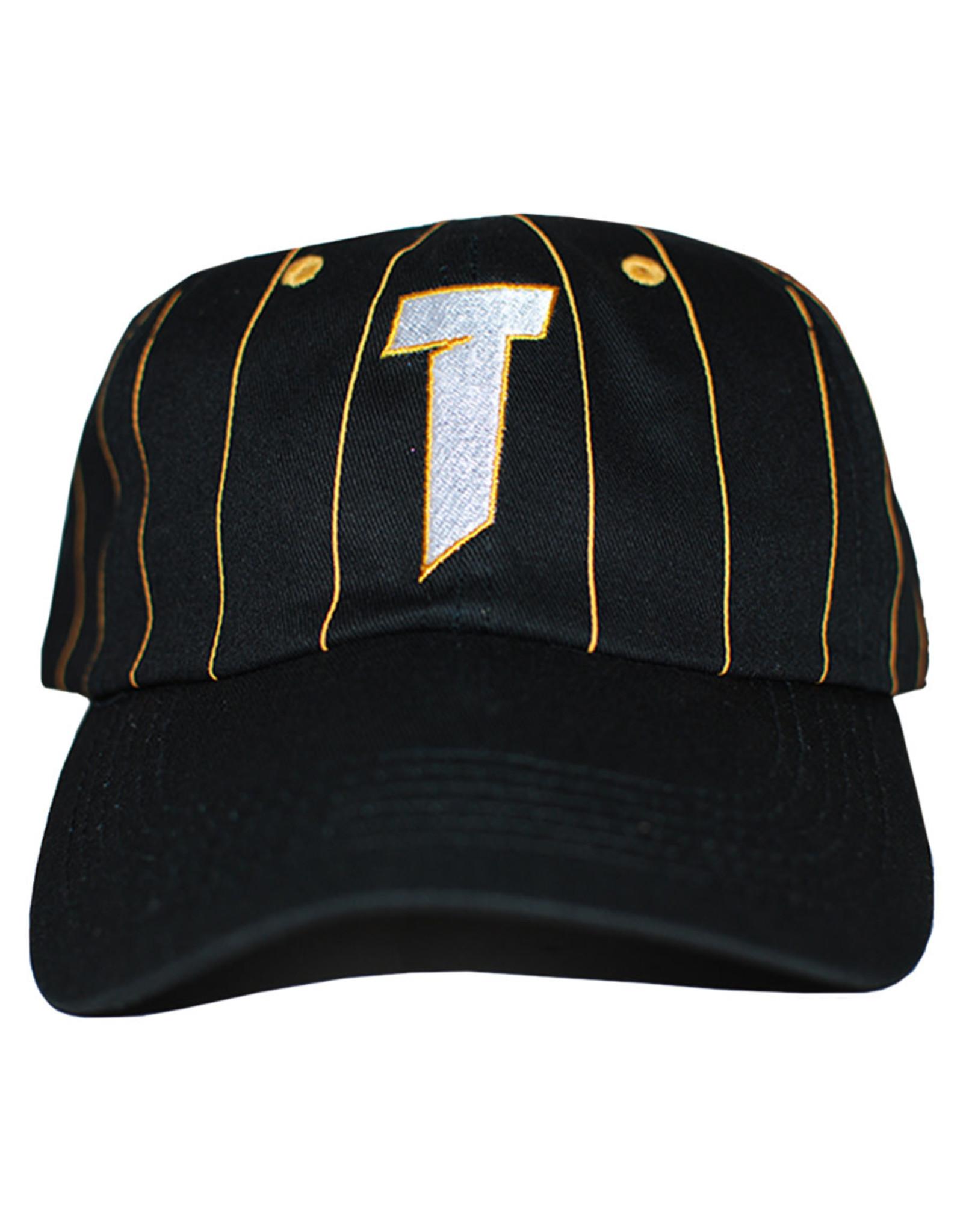 Thrasher Thrasher Hat T Logo Old Timer Strapback (Black/Yellow)