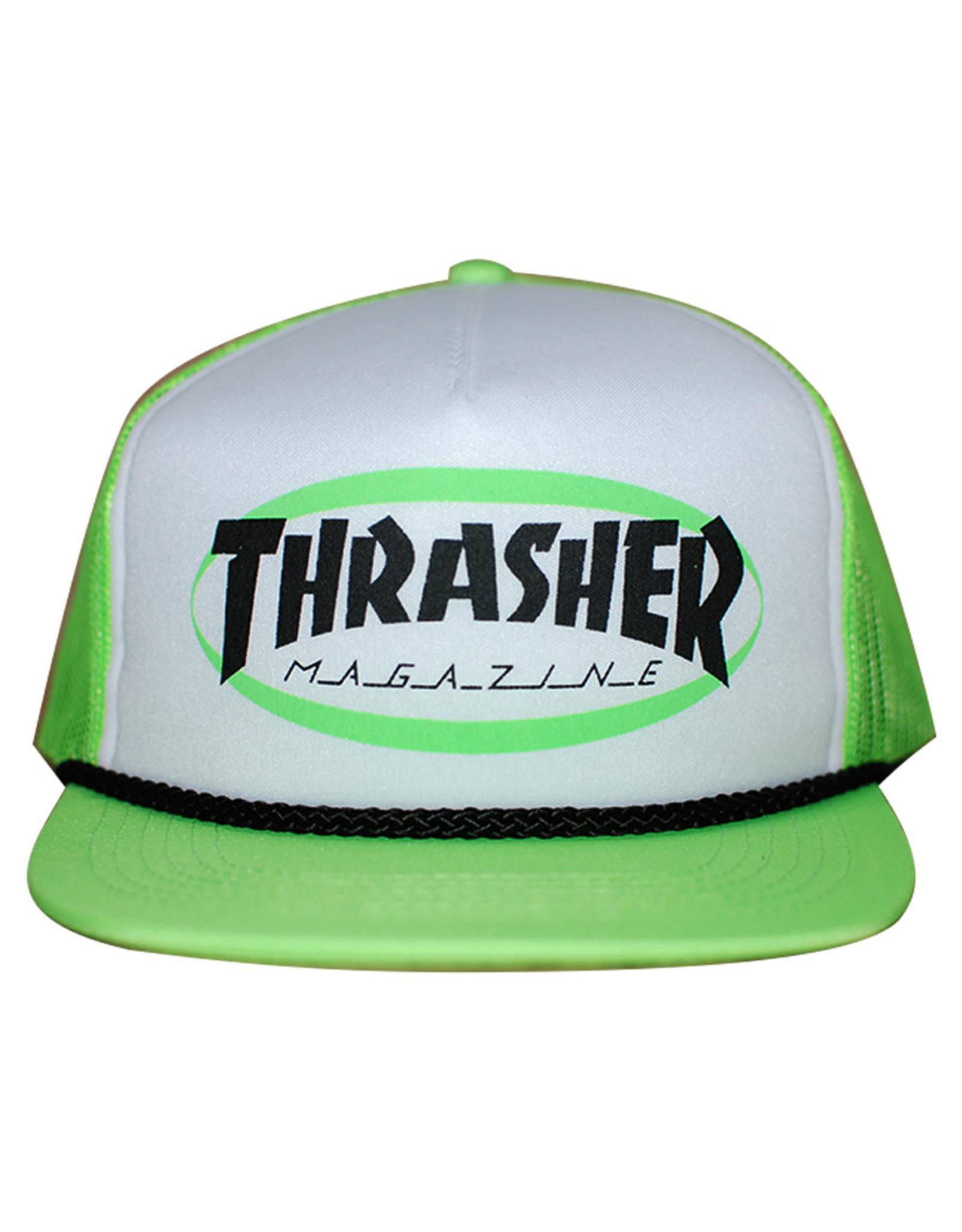 Thrasher Thrasher Hat Ellipse Mag Logo Trucker Rope Snapback (Green)