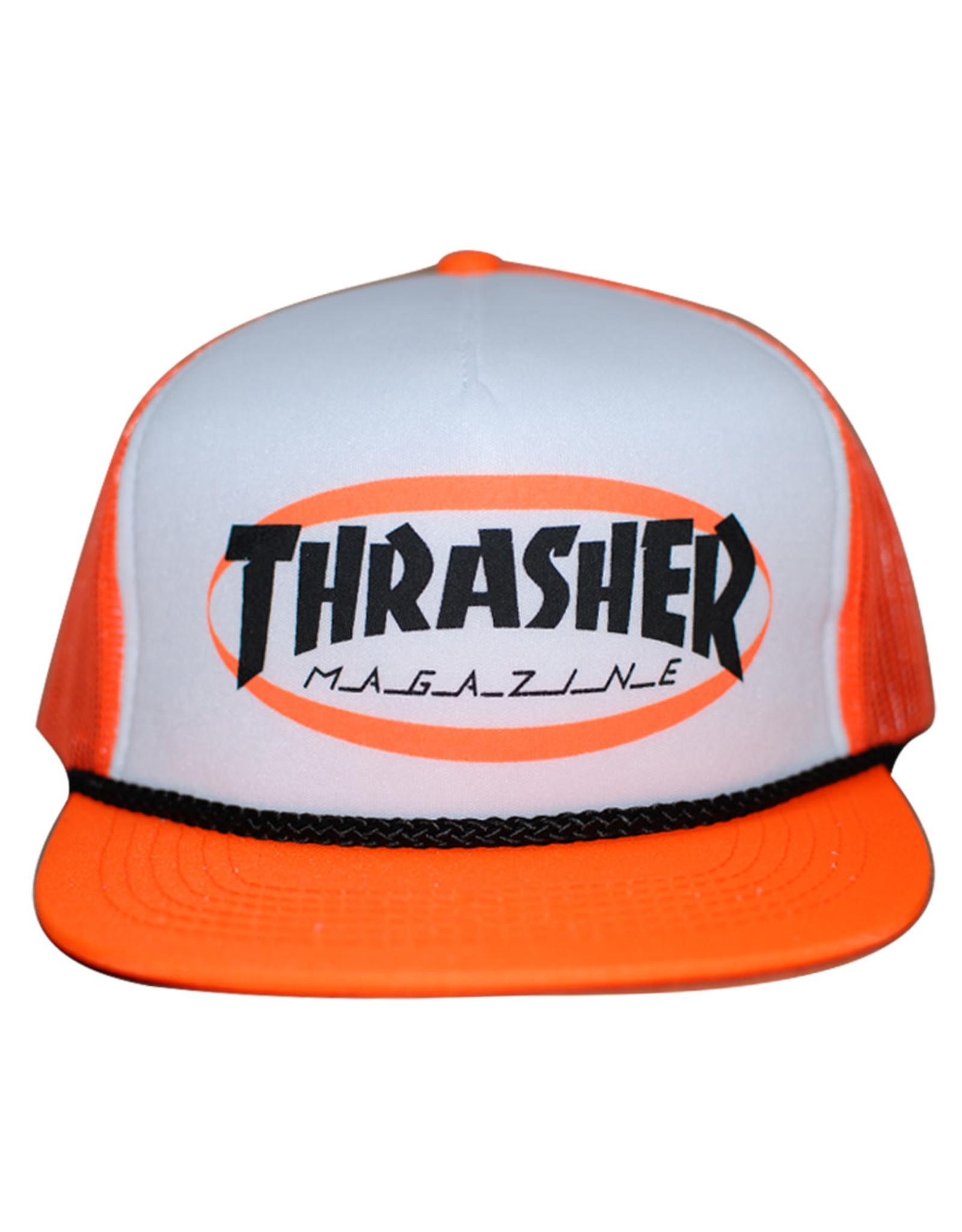 Thrasher Thrasher Hat Ellipse Mag Logo Trucker Rope Snapback (Orange)