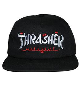 Thrasher Thrasher Hat Calligraphy Snapback (Black)