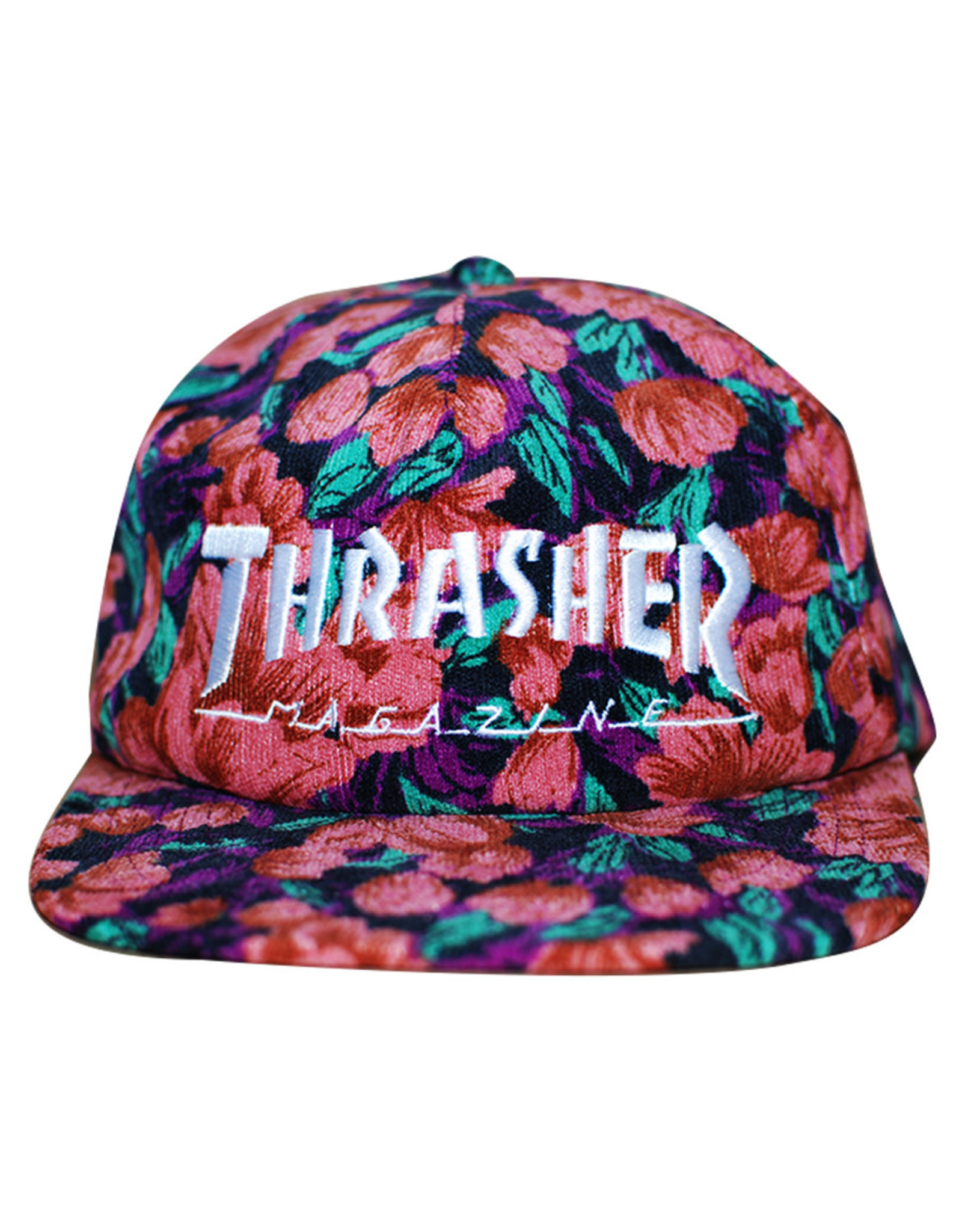 Thrasher Thrasher Hat Mag Logo Snapback Cord (Pink Floral)