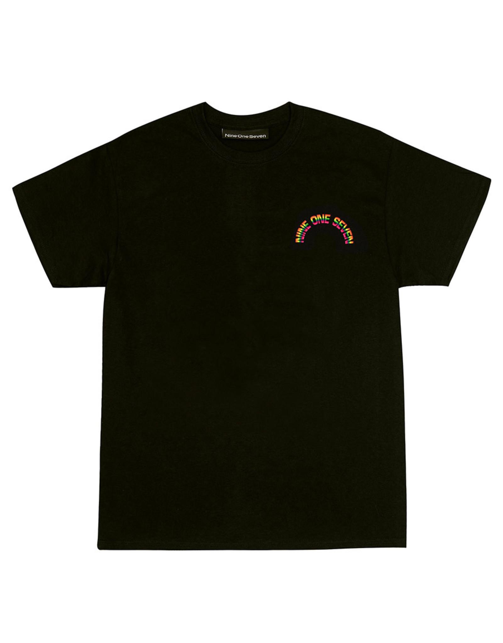 917 917 Tee Rainbow S/S (Black)