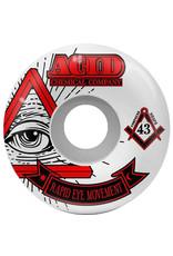 Acid Wheels Acid Wheels REM Pyramid White (53mm/101a)
