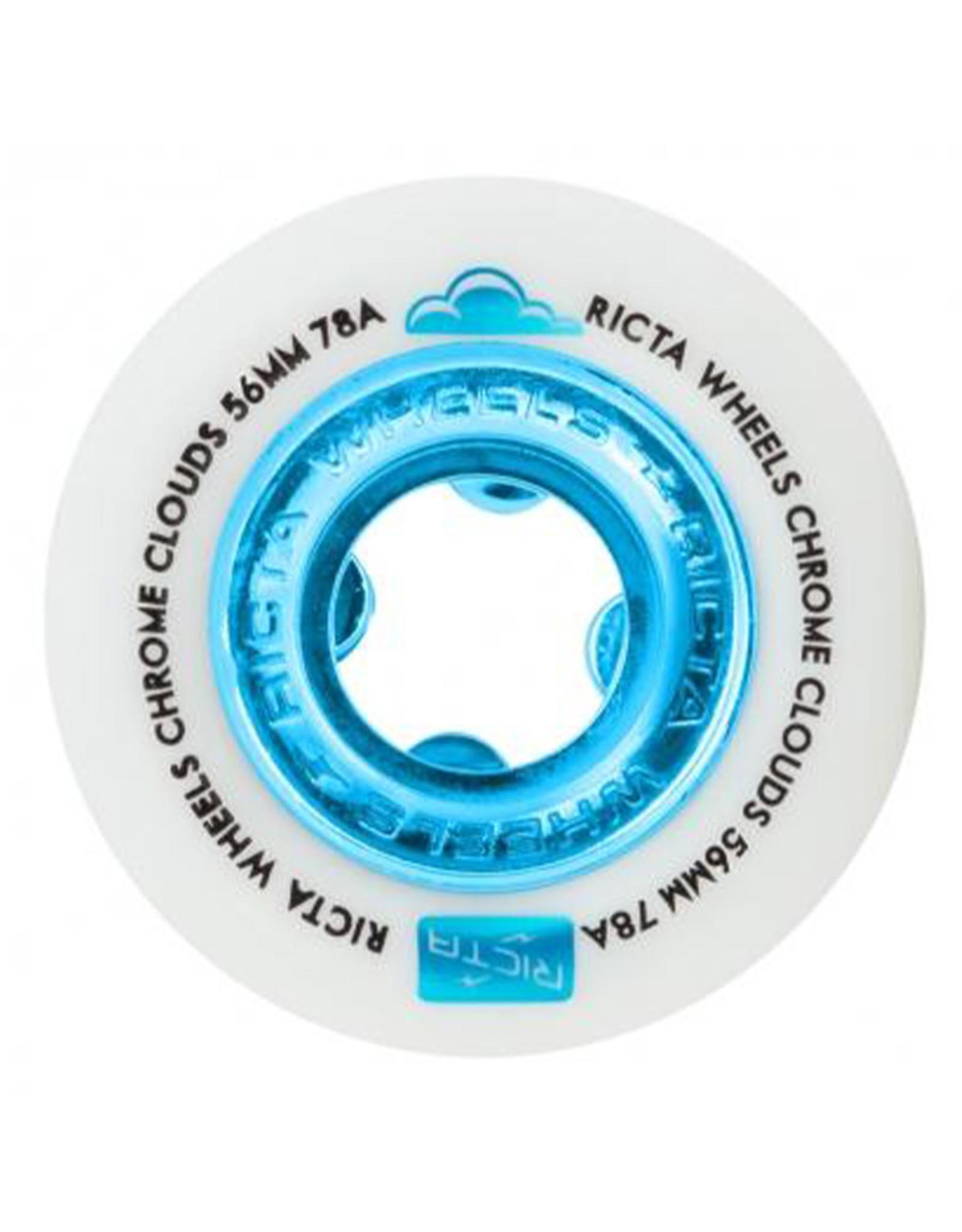 Ricta Wheels Ricta Wheels Team Chrome Clouds Blue (56mm/78a)