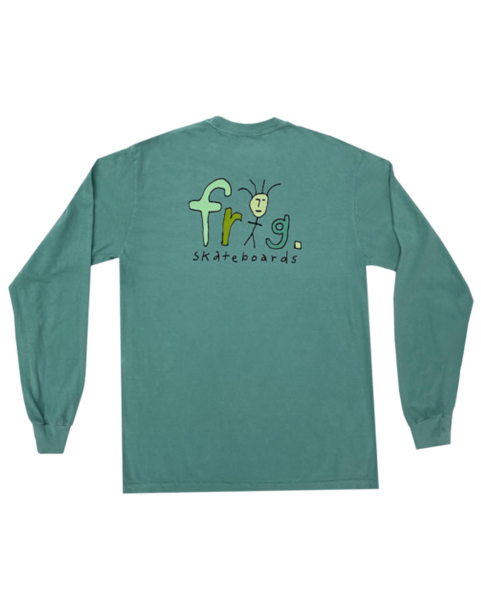 Frog Frog Tee Frog Man Logo L/S (Green)