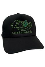 Frog Frog Hat Dino Logo 5 Panel Snapback (Black)