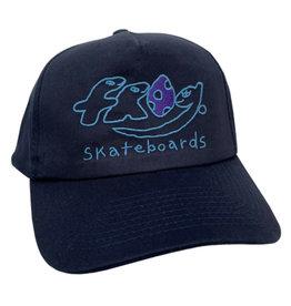 Frog Frog Hat Dino Logo 5 Panel Snapback (Navy)