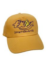 Frog Frog Hat Dino Logo 5 Panel Snapback (Yellow)