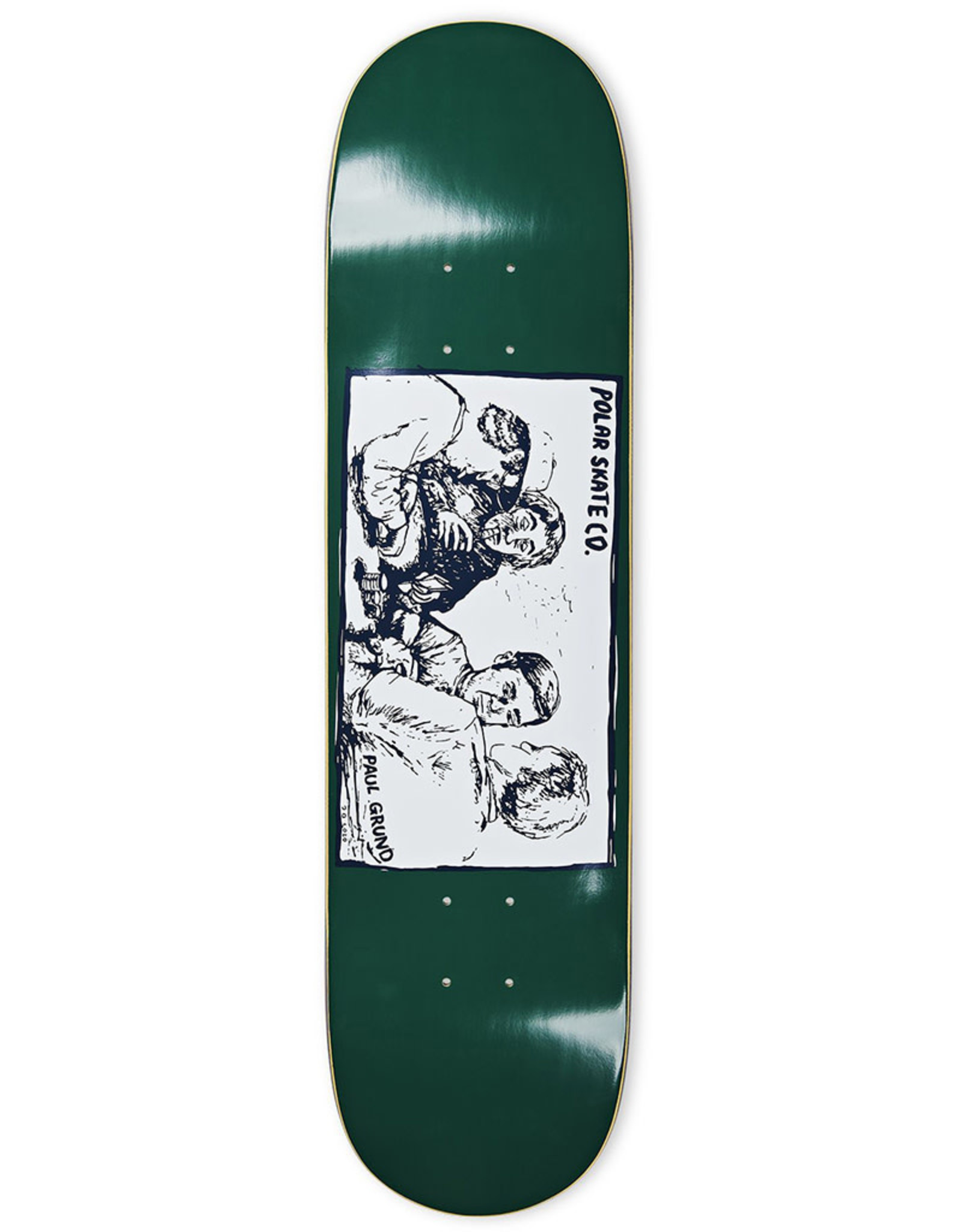 Polar Polar Deck Paul Grund Cold Streak Dark Green (8.375)