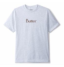 Butter Goods Butter Goods Tee Classic Logo S/S (Ash Grey/Chocolate)