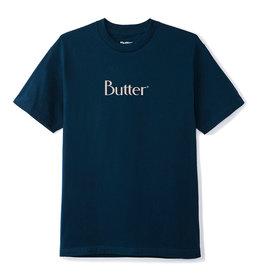 Butter Goods Butter Goods Tee Classic Logo S/S (Navy/Cream)