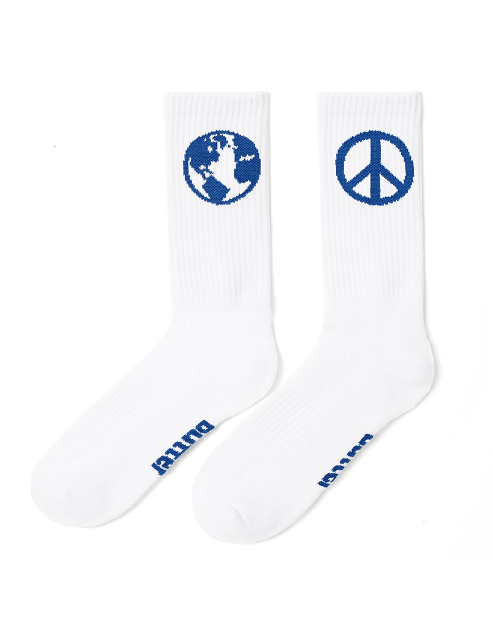 Butter Goods Butter Goods Socks World Peace Crew (White/Navy)