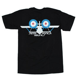 Santa Monica Airlines Santa Monica Airlines Tee Classic Airplane S/S (Black)
