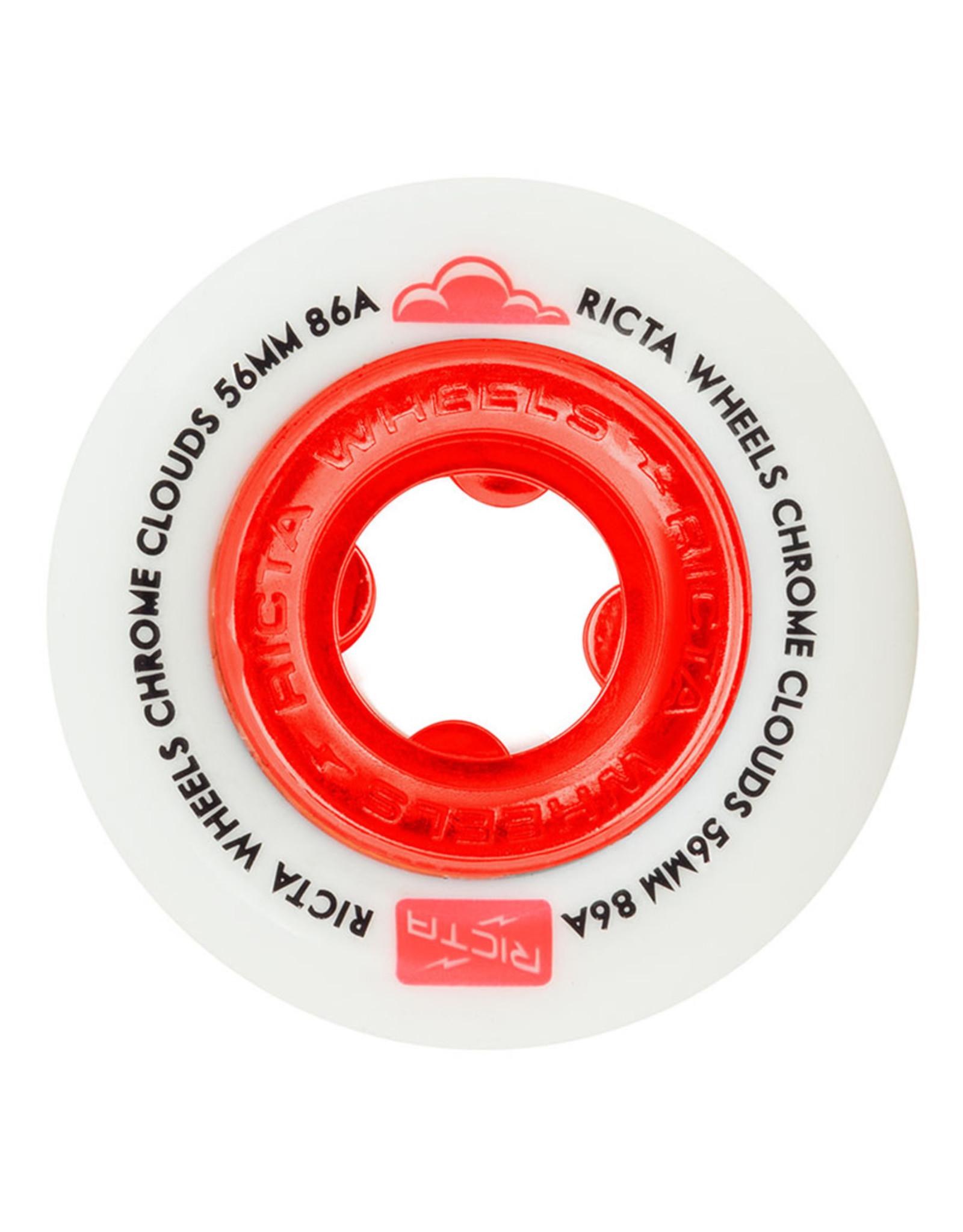 Ricta Wheels Ricta Wheels Chrome Clouds Red (56mm/86a)