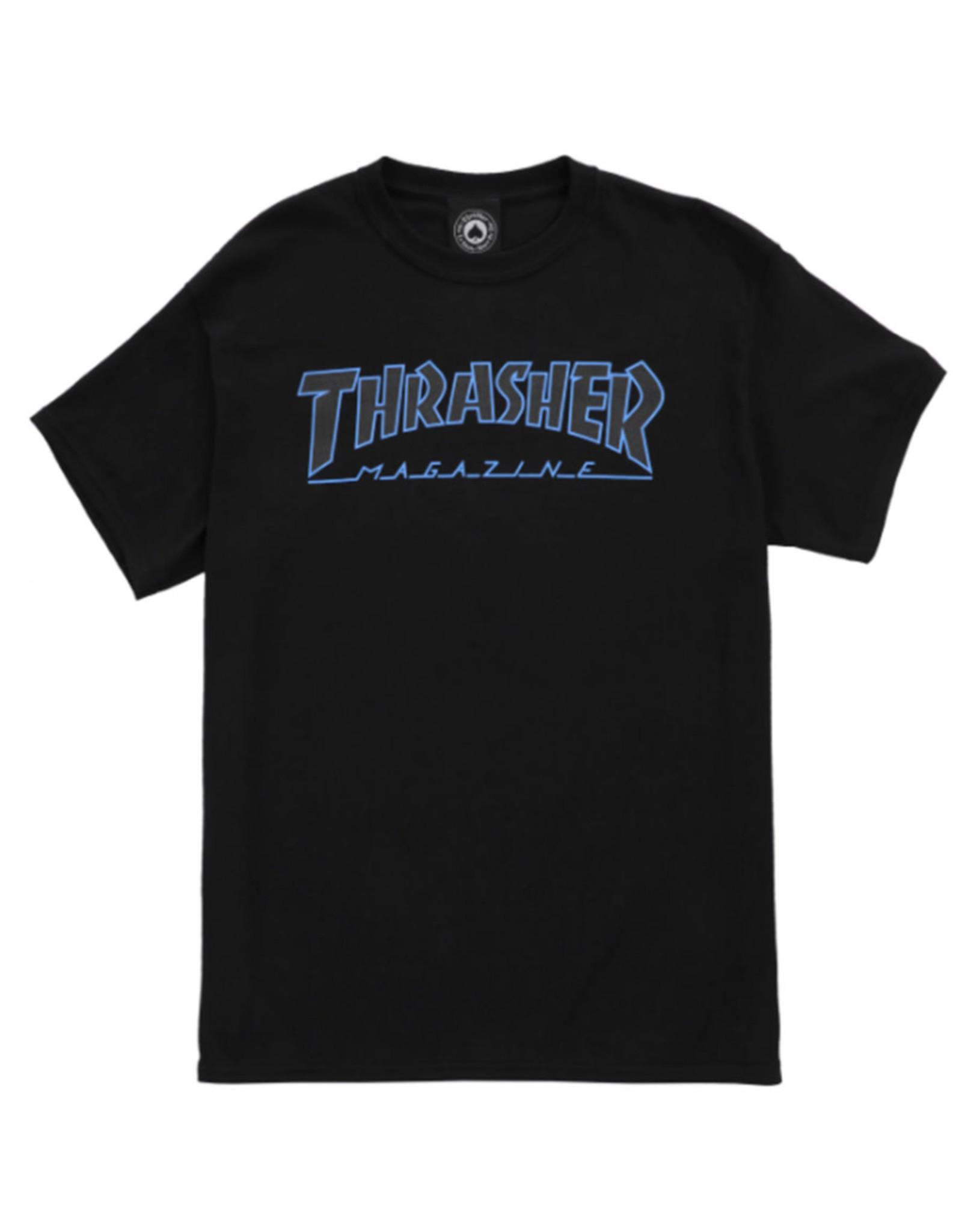 Thrasher Thrasher Tee Mens Outlined S/S (Black/Black)