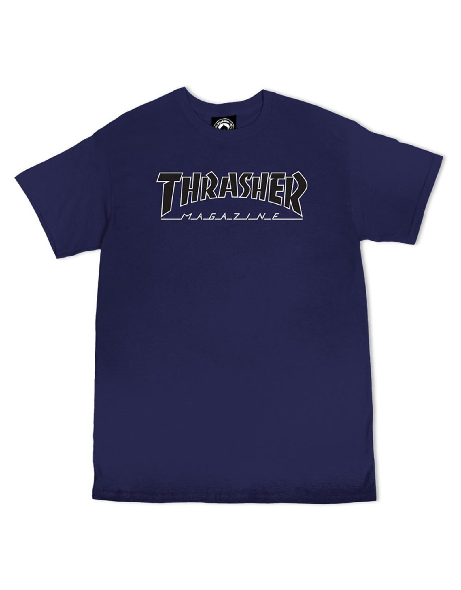 Thrasher Thrasher Tee Mens Outlined S/S (Navy/Black)
