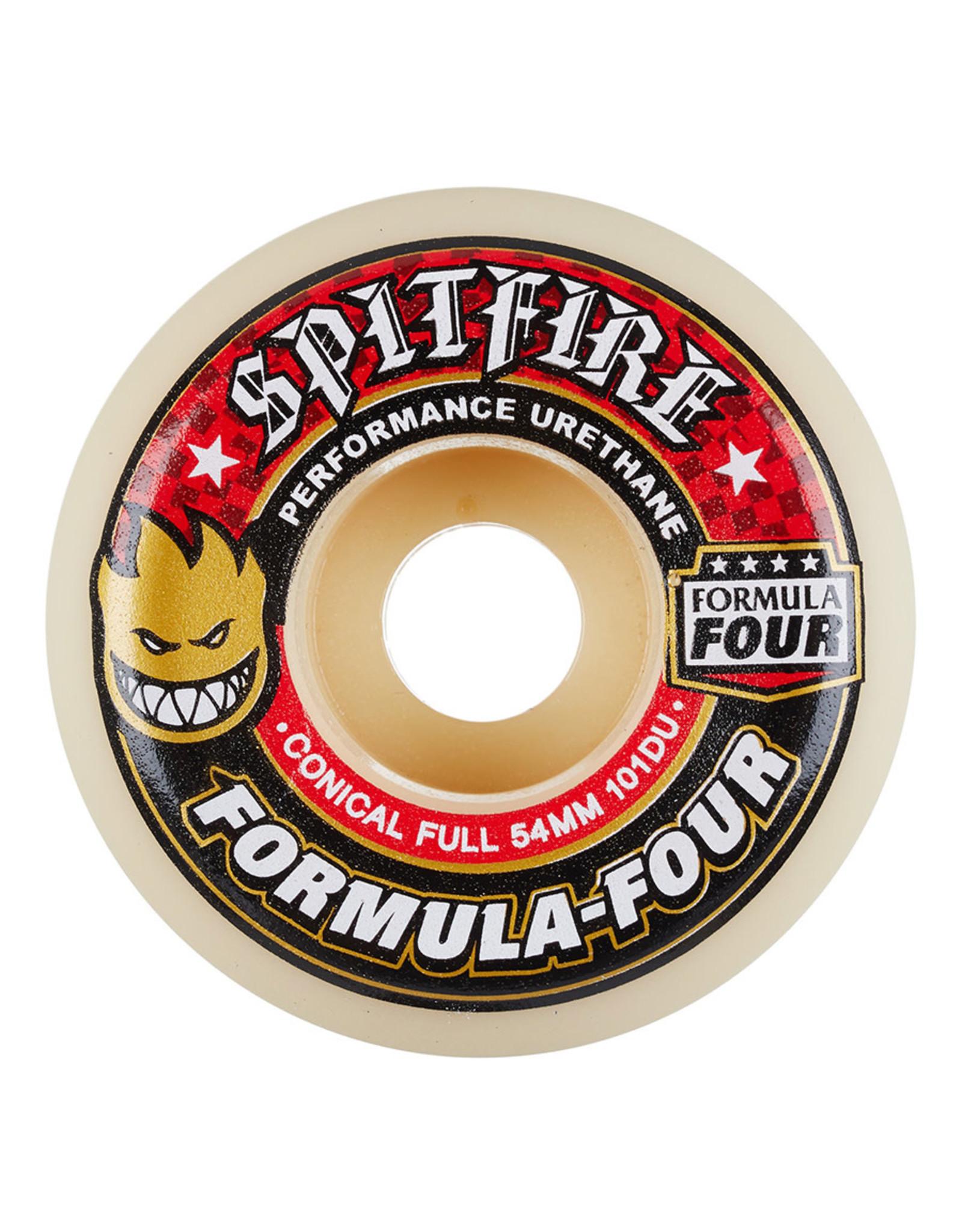 Spitfire Spitfire Wheels Formula Four Conical Full White (52mm/101d)