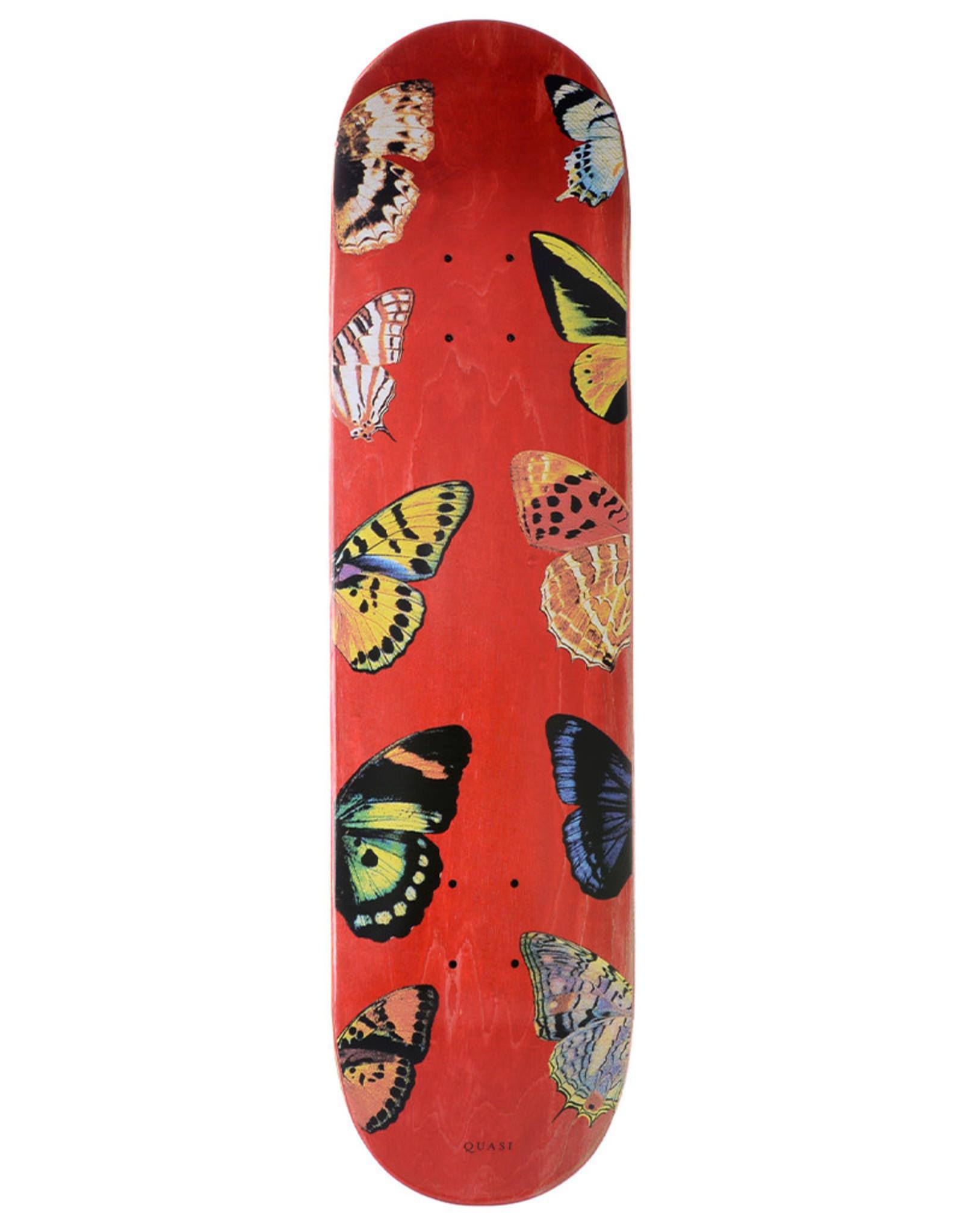 Quasi Skateboards Quasi Deck Team Butterfly Red (8.0)