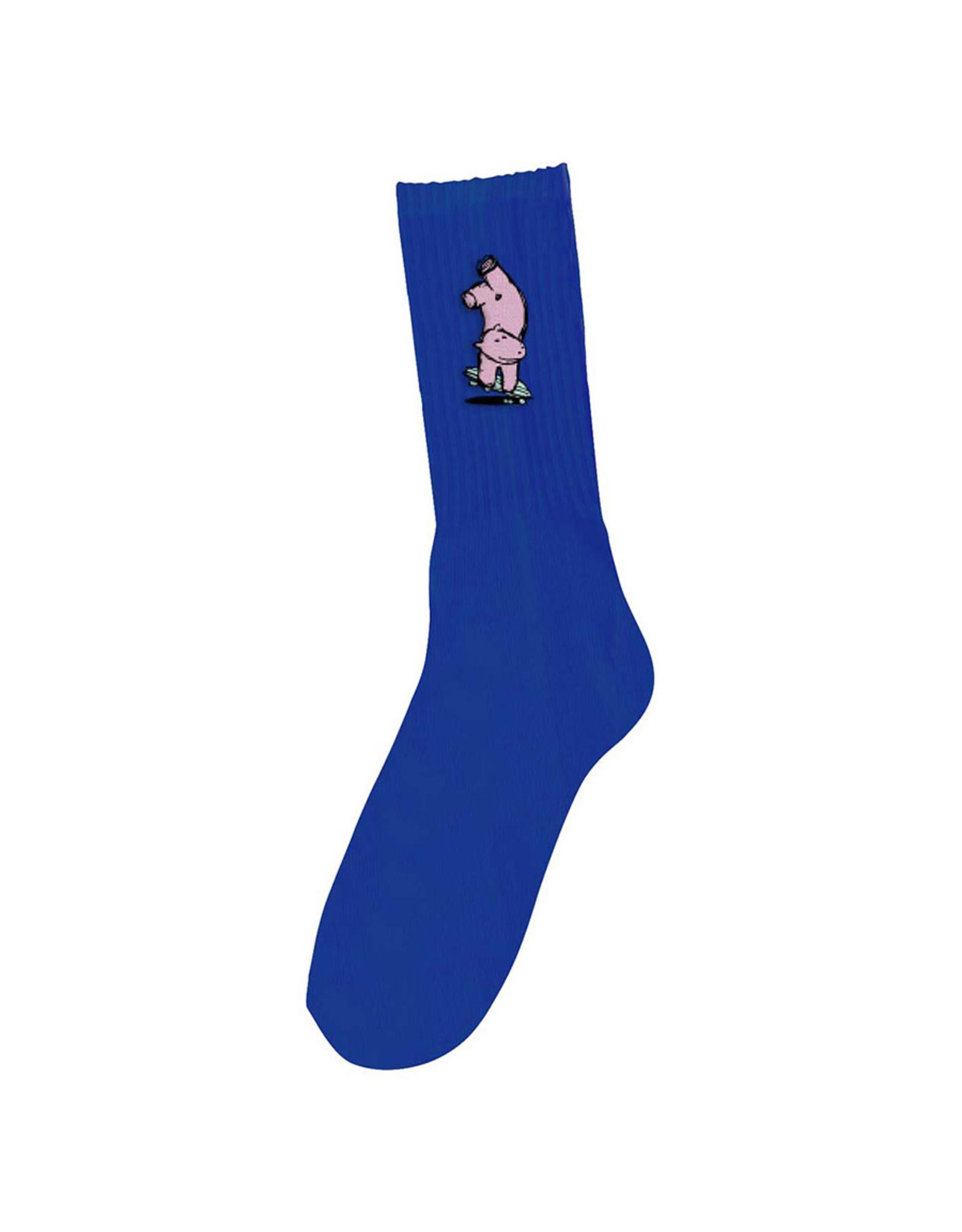 Foundation Foundation Socks Hippo Crew (Blue)