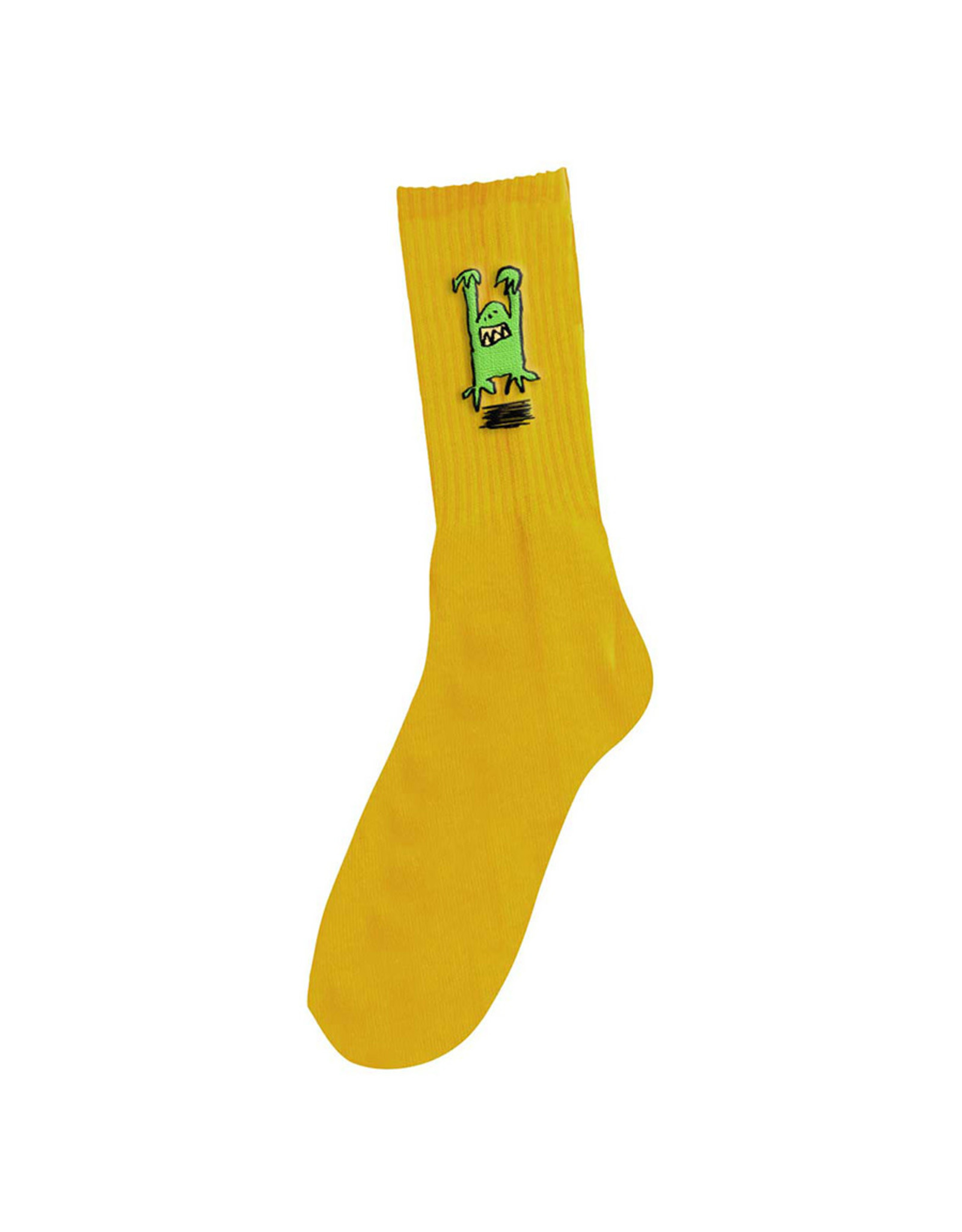 Foundation Foundation Socks Monster Crew (Yellow)