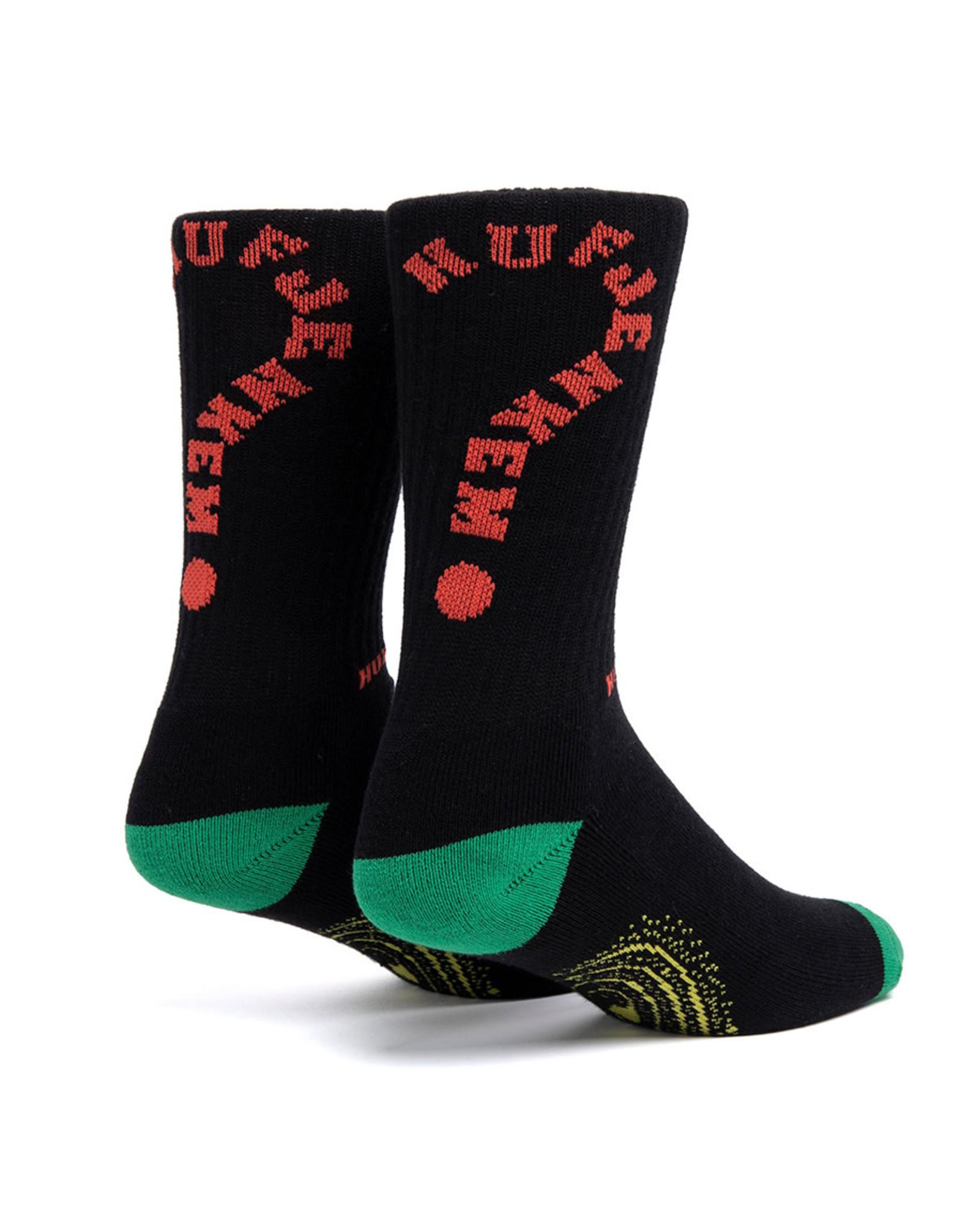 Huf Huf Socks X Jenkem Portal Crew (Black)