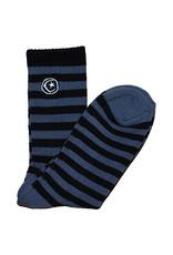 Foundation Foundation Socks Striped Star And Moon Crew (Grey)