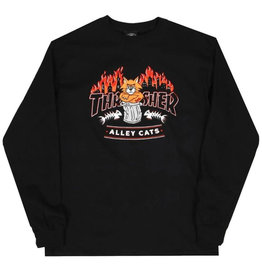 Thrasher Thrasher Tee Mens Alley Cats L/S (Black)