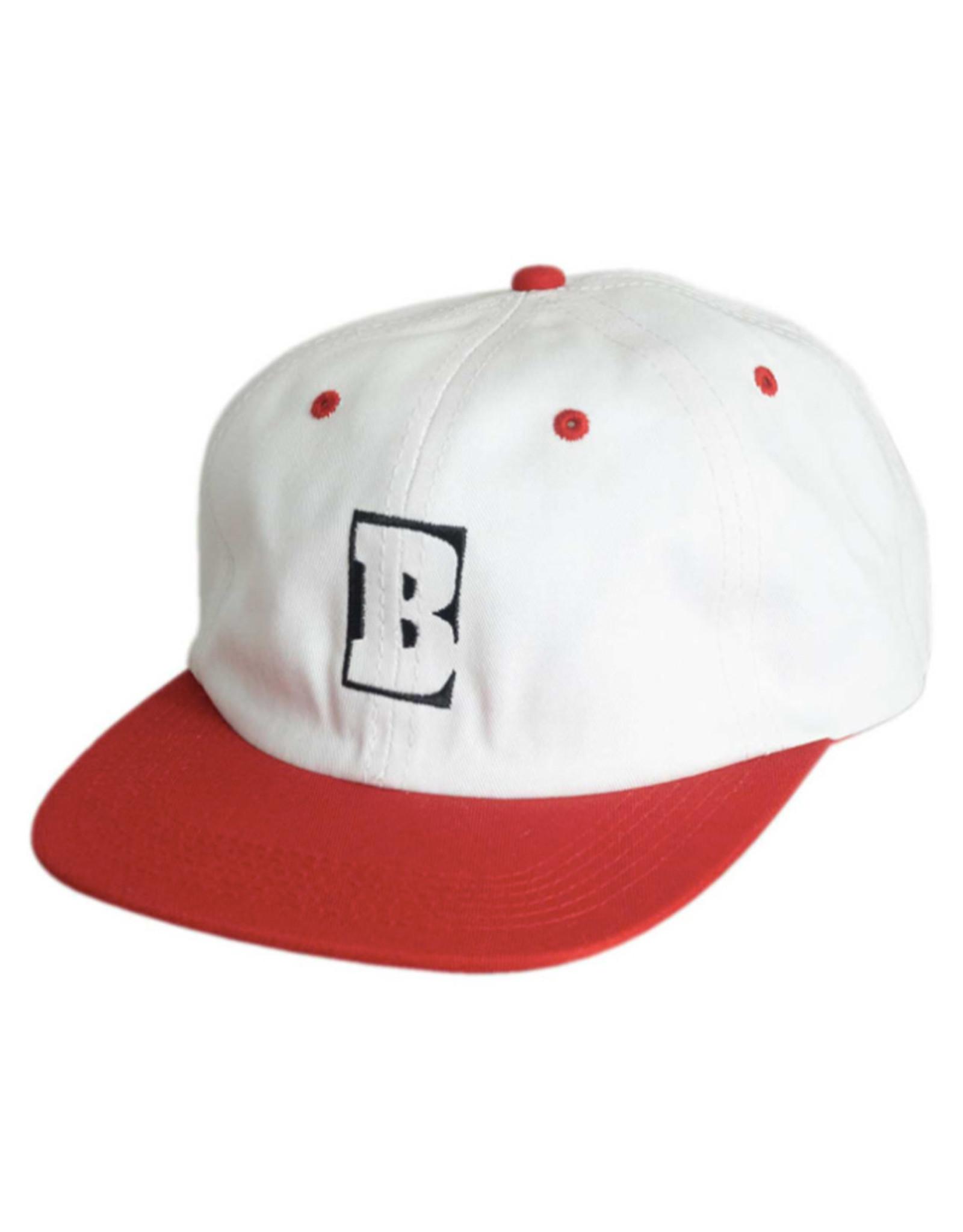 Baker Baker Hat Capital B Snapback (White/Red)