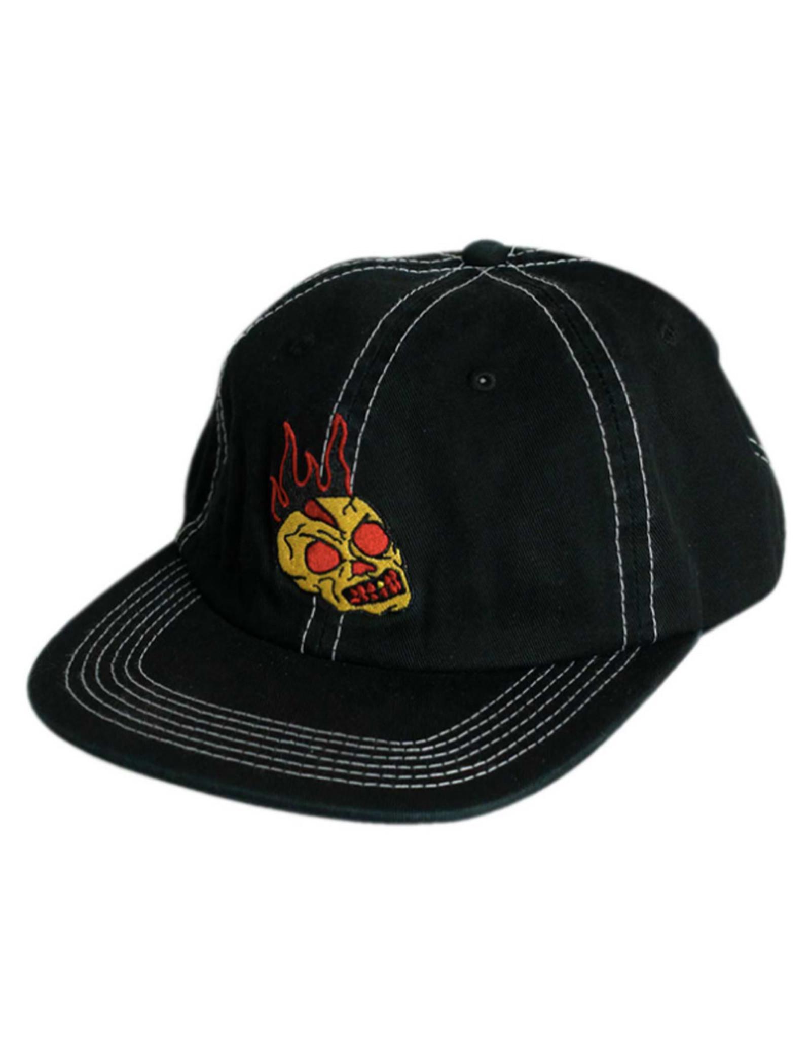 Baker Baker Hat Skull Fire Snapback (Black)