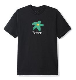 Butter Goods Butter Goods Tee Flowers S/S (Black/Green)