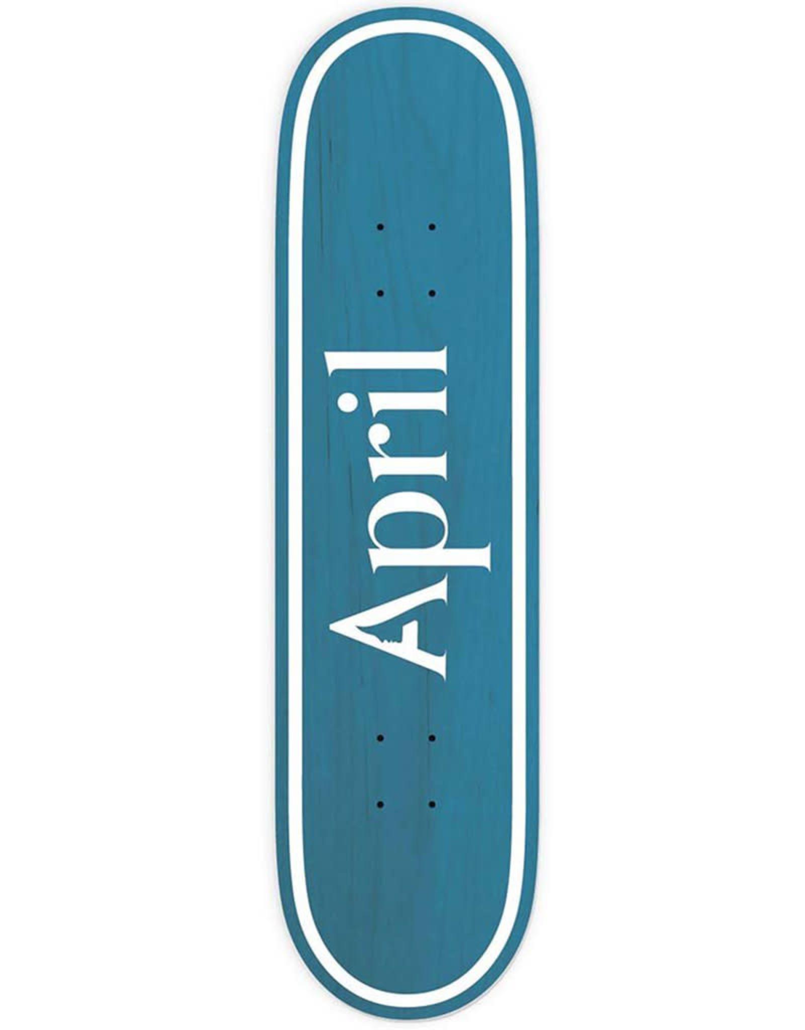 April April Deck Team Logo Blue Inverted (8.0)