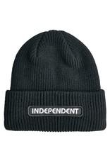 Independent Independent Beanie B/C Groundwork Long Shoreman Cuff (Black)