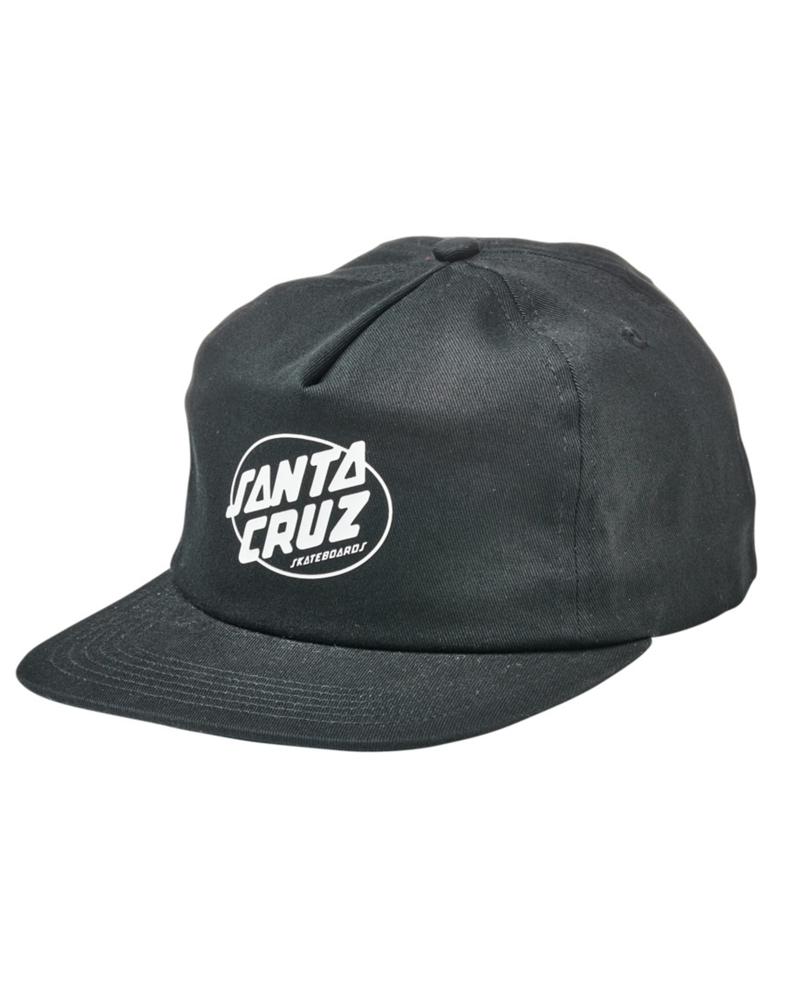 Santa Cruz Santa Cruz Hat Club Oval Dot Unstructured Mid Snapback (Black)