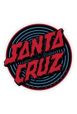 "Santa Cruz Santa Cruz Sticker Depth Dot Blue/Black/Red (4.125"")"