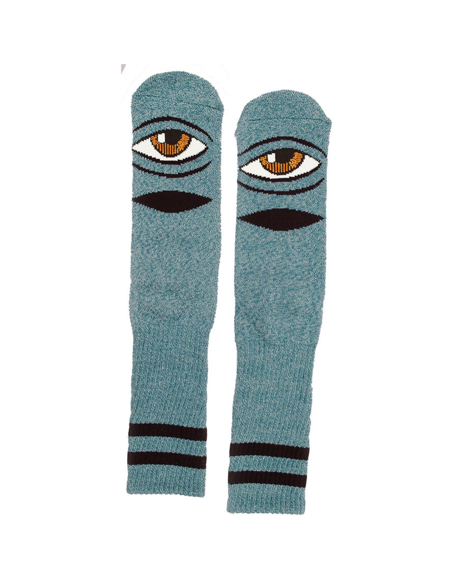 Toy Machine Toy Machine Socks Heather Sect Eye Crew (Turquoise Heather)