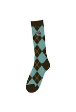 Foundation Foundation Socks Argyle Tall (Blue/Brown)
