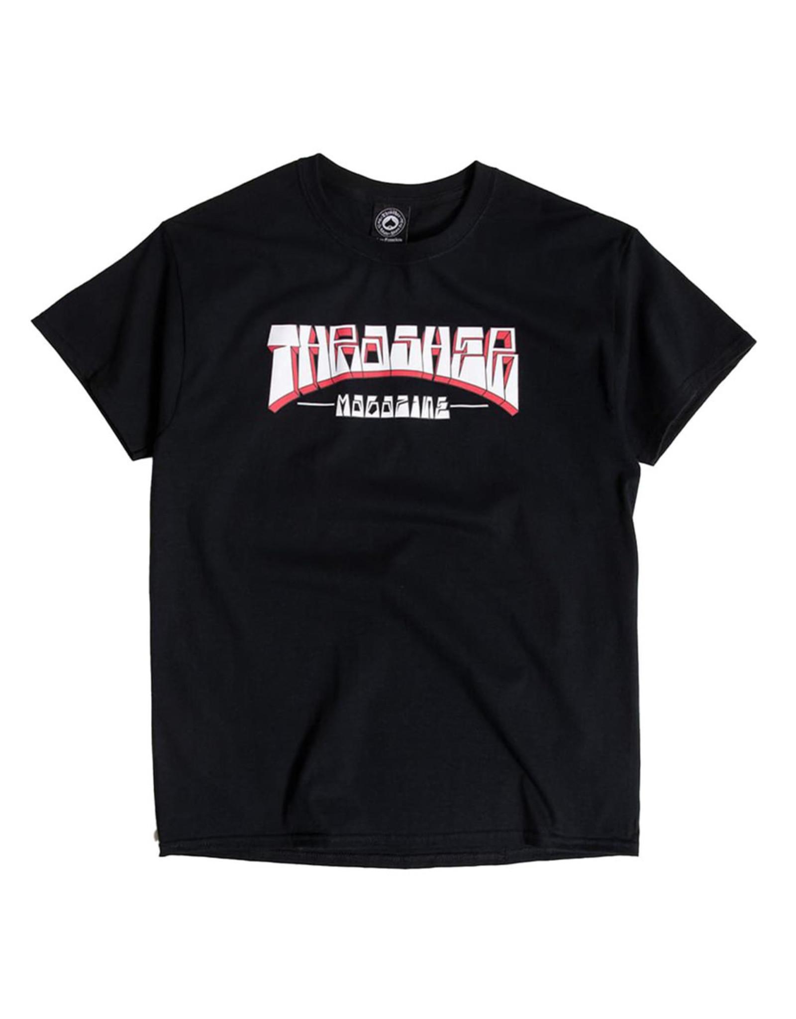 Thrasher Thrasher Tee Mens Firme Logo S/S (Black)