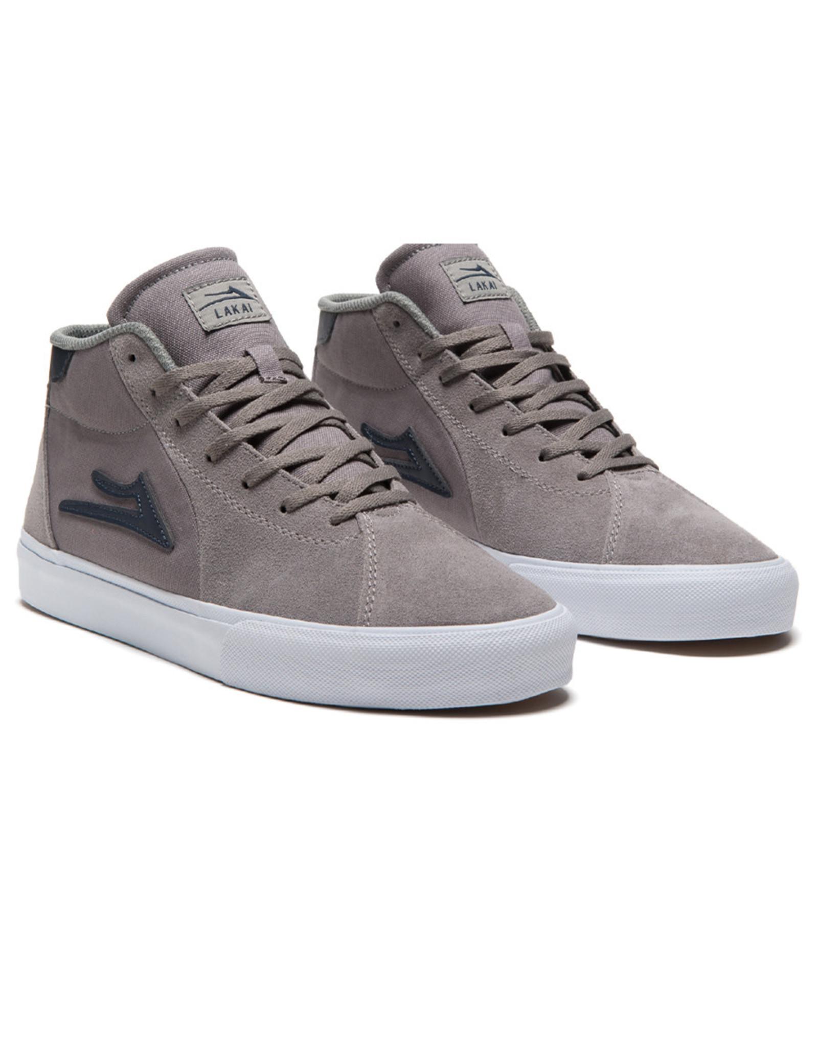 Lakai Shoes Lakai Shoe Flaco II Mid (Grey/Navy Suede)