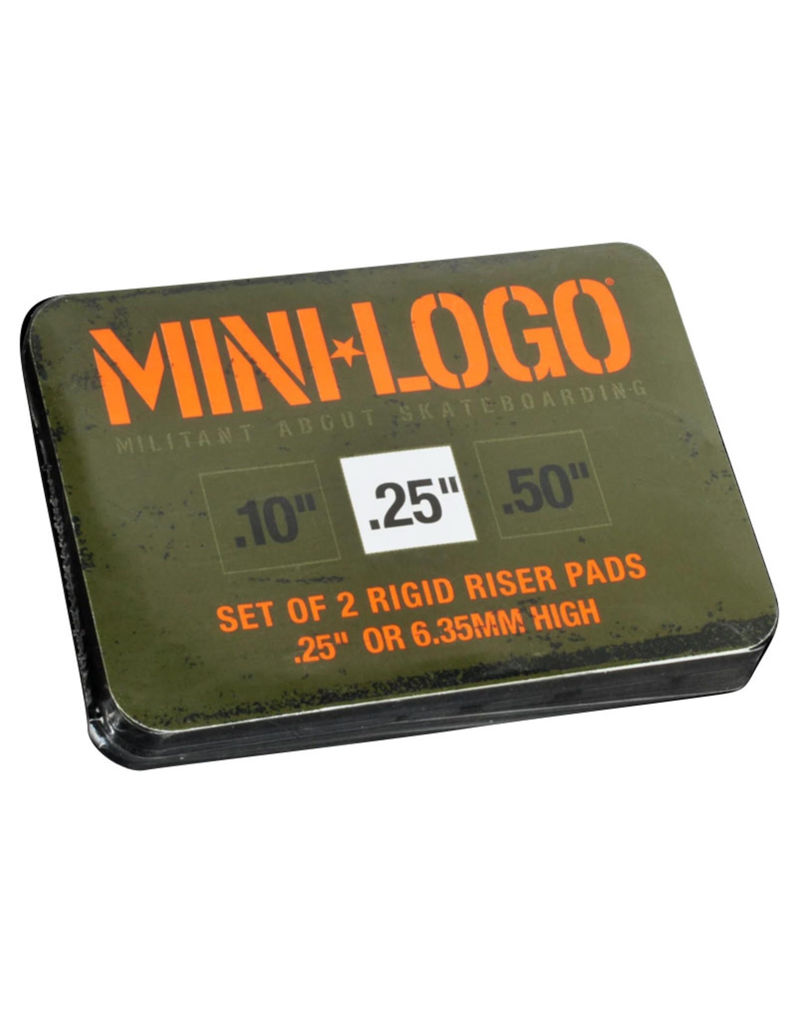 """Mini Logo Mini Logo Rigid Risers (Black/0.25"""")"""