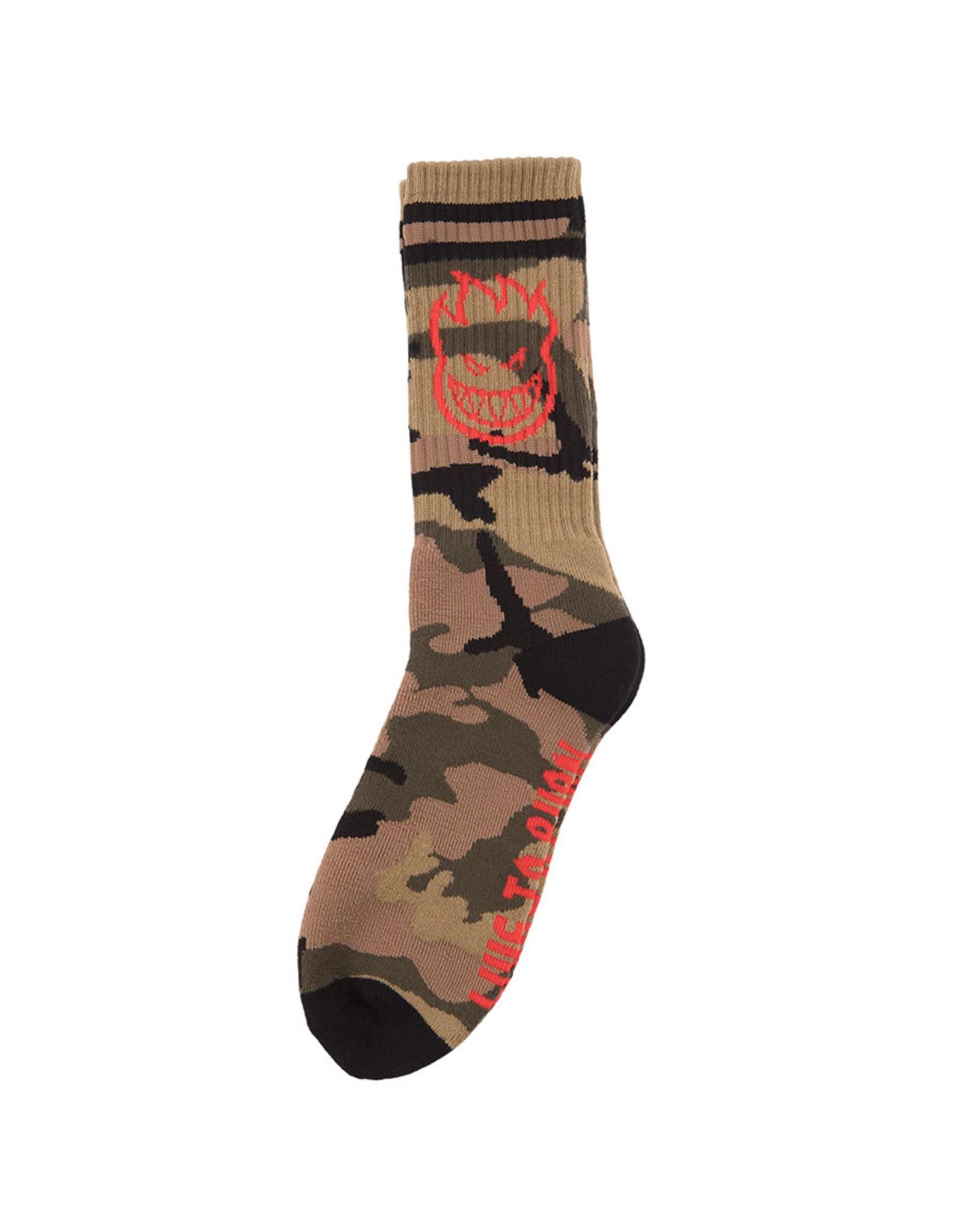 Spitfire Spitfire Socks Bighead Crew (Camo/Red/Black)