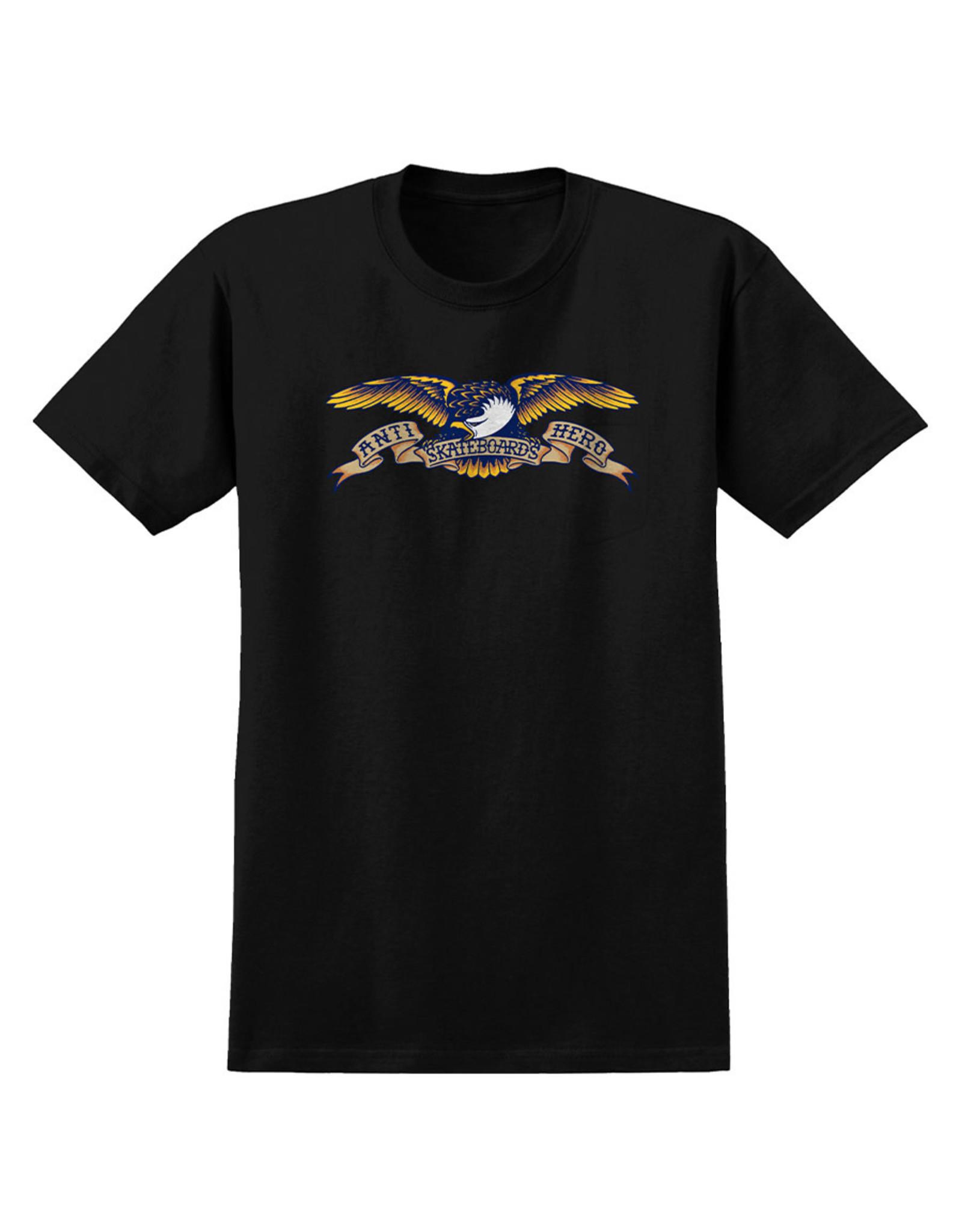 Anti Hero Anti Hero Tee Basic Eagle S/S (Black/Yellow)