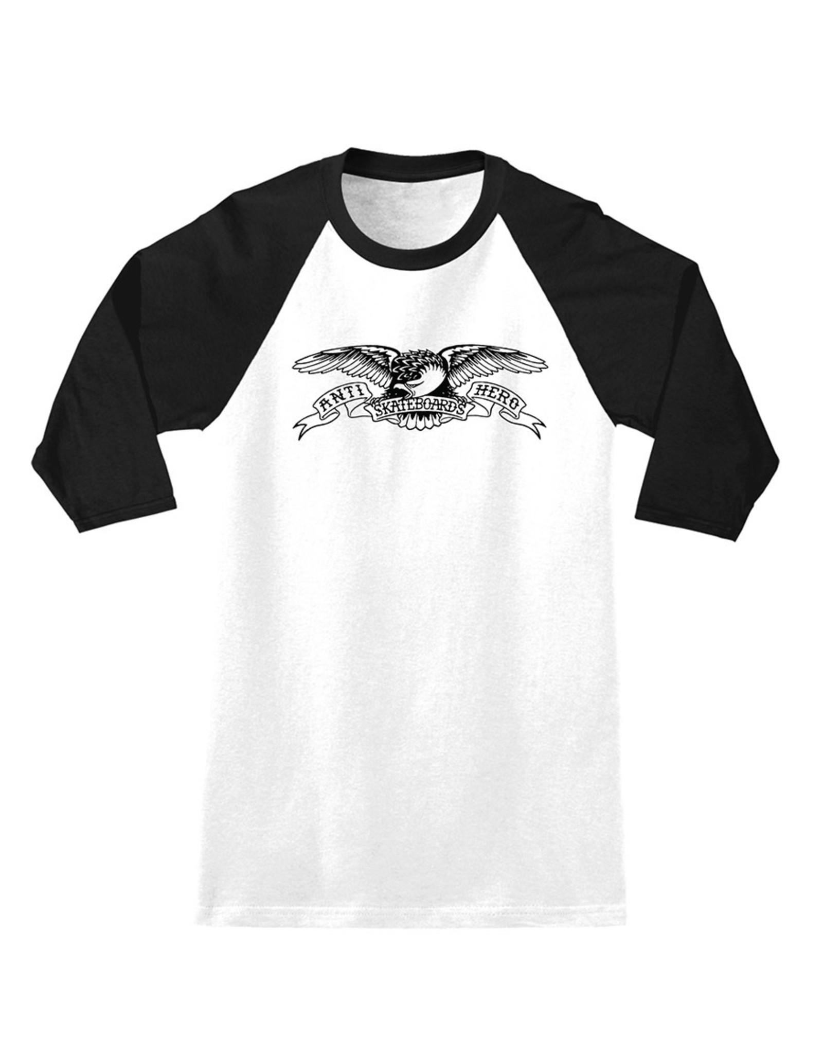 Anti Hero Anti Hero Tee Basic Eagle 3/4 (White/Black)