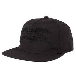 Anti Hero Anti Hero Hat Basic Eagle Embroidary Snapback (Black/Black)