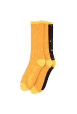 Anti Hero Anti Hero Socks Grimple DST 3 Pack Crew (Orange/Yellow/Black)