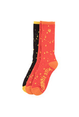 Anti Hero Anti Hero Socks Grimple DST 3 Pack Crew (Red/Orange/Yellow/Black)