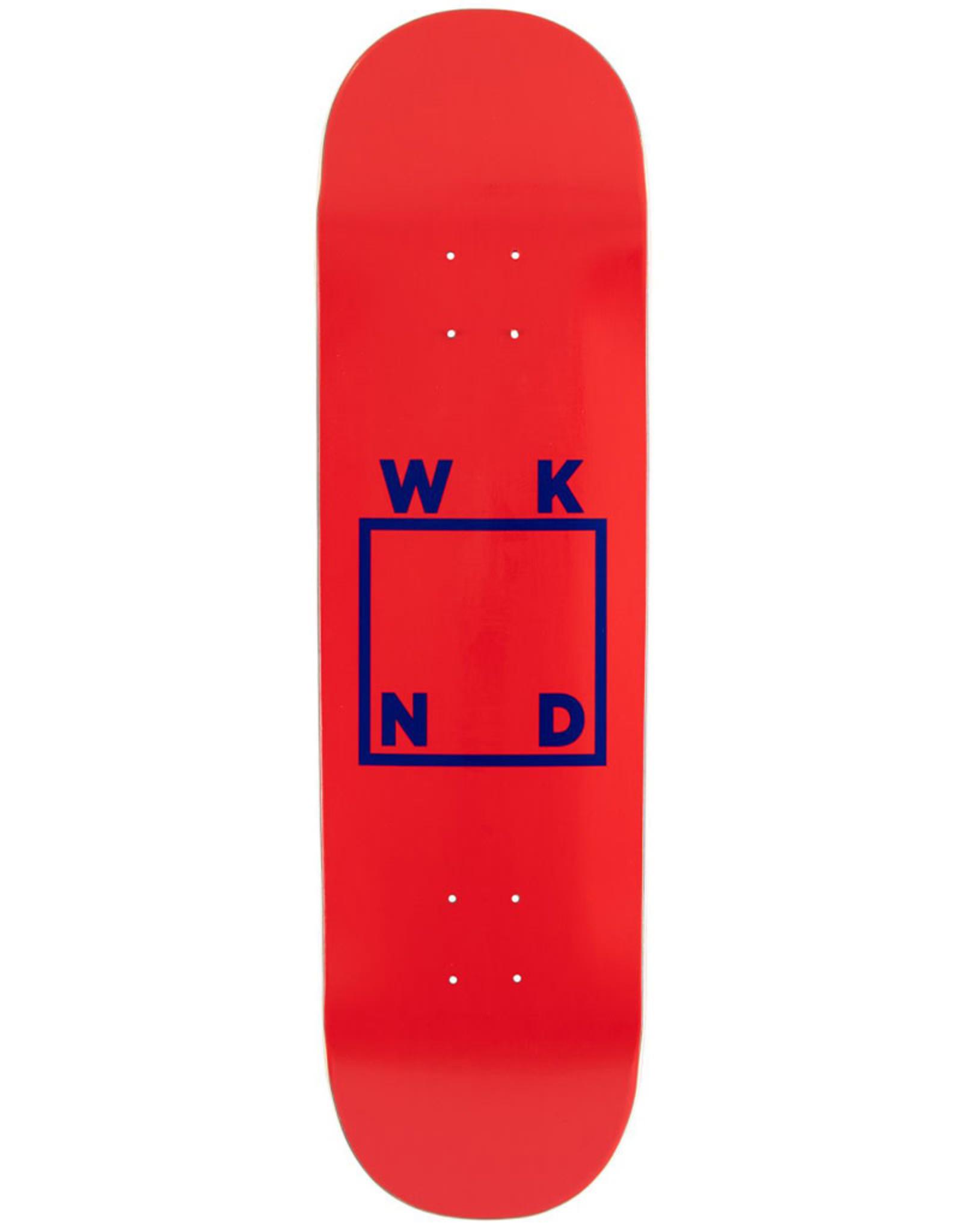 Wknd Skateboards Wknd Deck Team Logo Red/Blue (8.375)