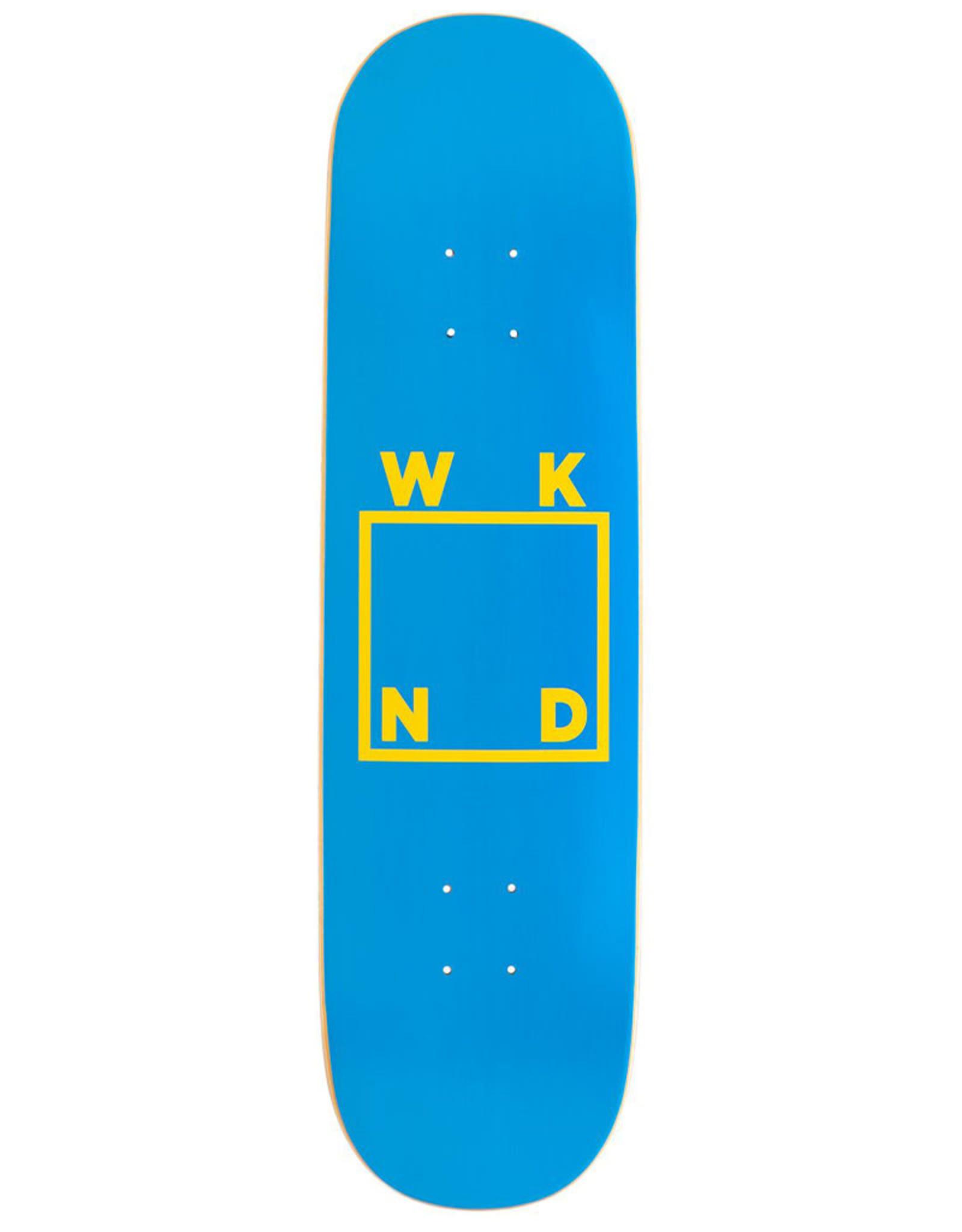 Wknd Skateboards Wknd Deck Team Logo Blue/Yellow (8.125)