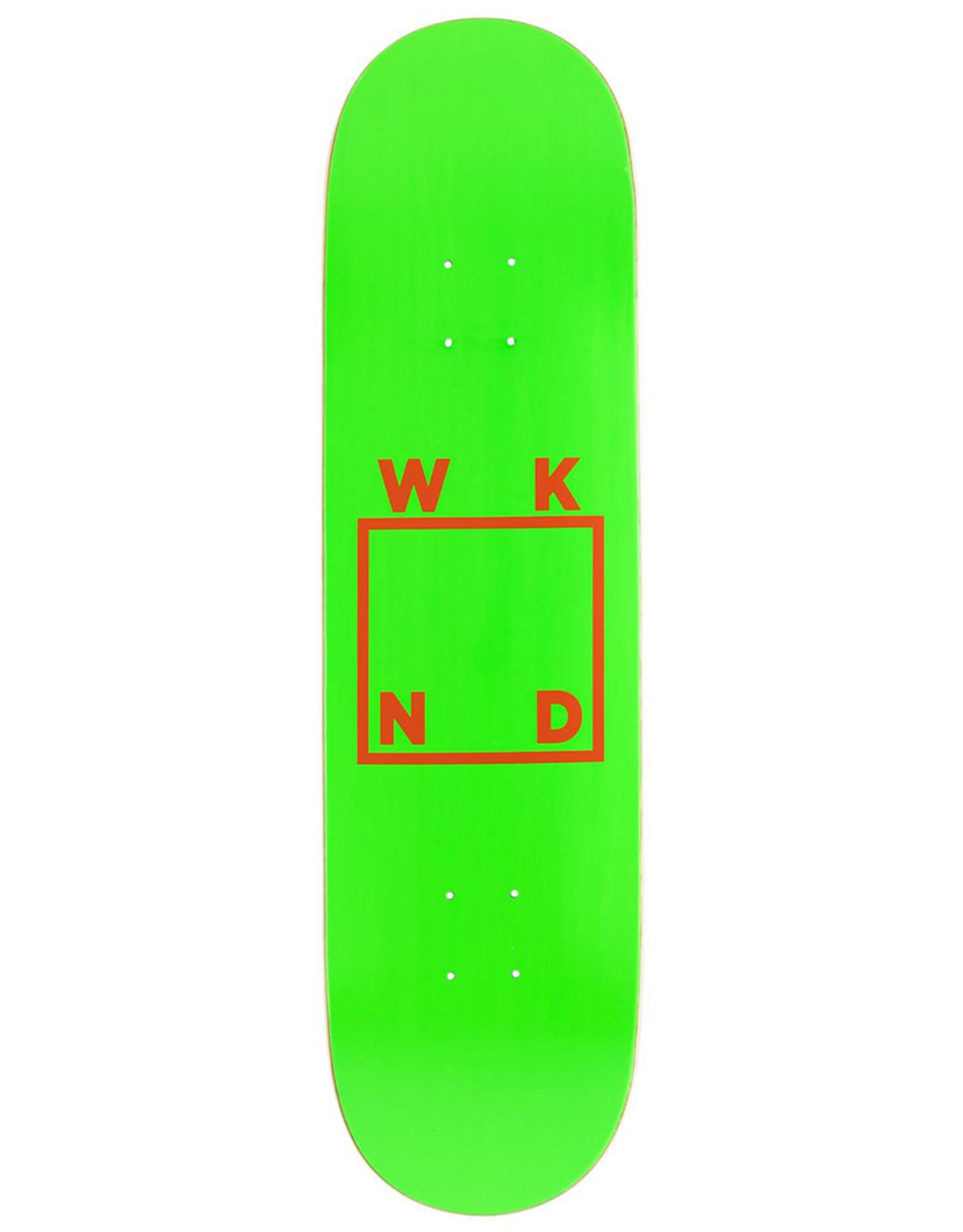 Wknd Skateboards Wknd Deck Team Logo Green/Orange (8.25)