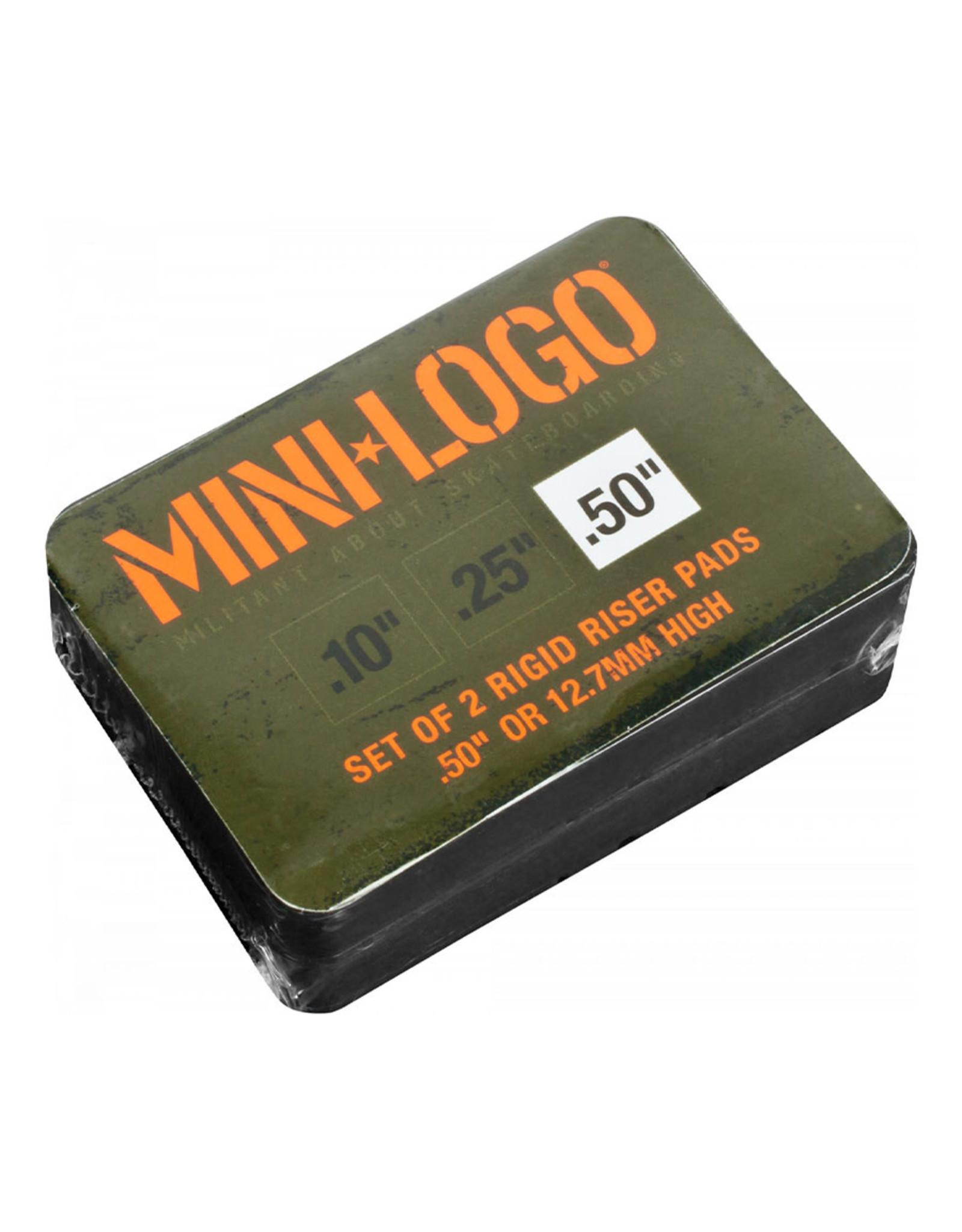 """Mini Logo Mini Logo Rigid Risers (Black/0.50"""")"""