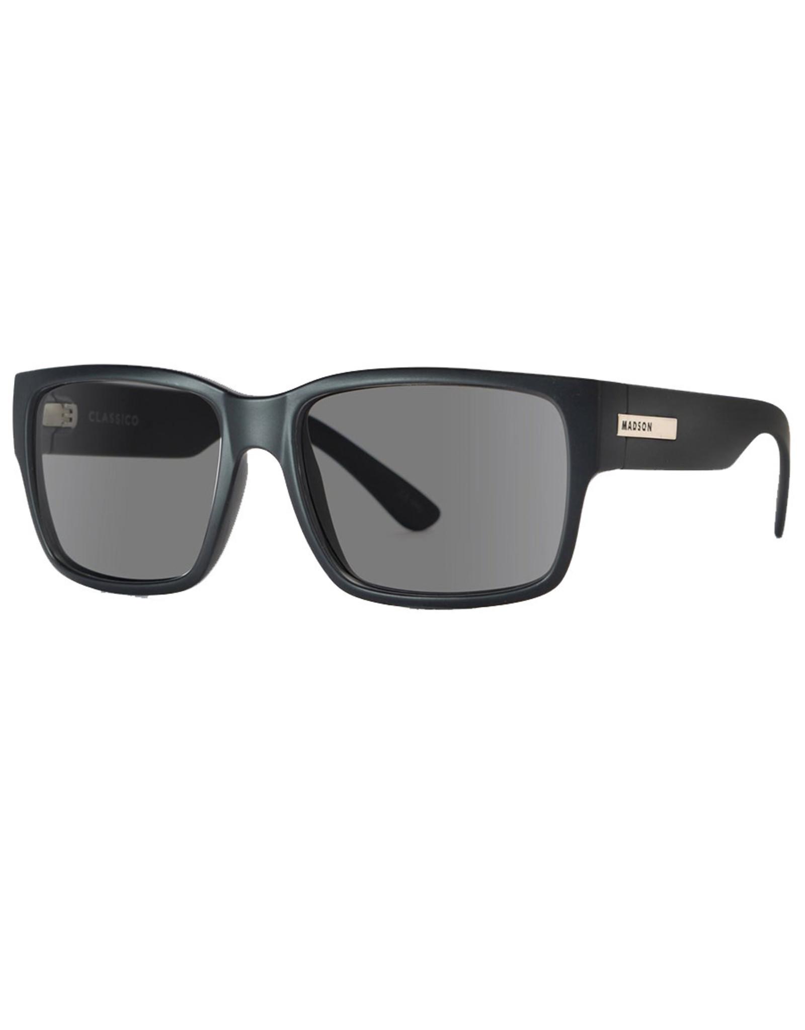 Madson Madson Sunglasses Classico (Black Matte/Grey Polarized Lens)